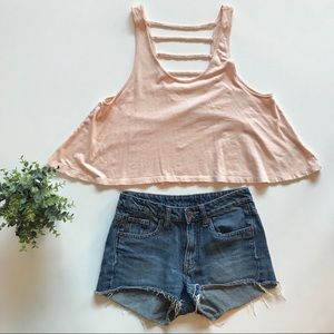 Swing Cropped Tank With Ladder Back